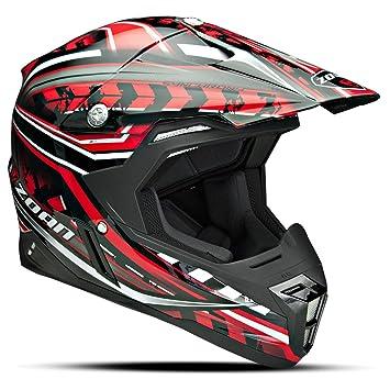 Zoan sincronía Monster Negro Rojo Offroad MX motocicleta casco de equitación, 3 x -Large