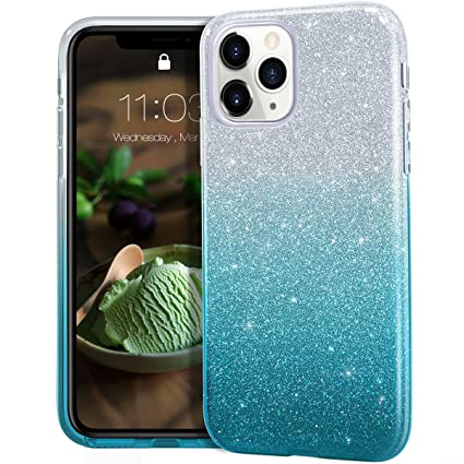 MATEPROX iPhone 11 Pro case,Bling Sparkle Cute Girls Women Protective Case  for iPhone 11 Pro 5.8 inch(Gradient Green)