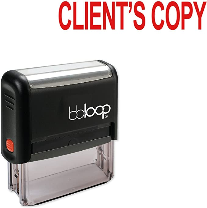 CLIENTS COPY Rubber Stamp Clear Print For Office & Commercial Use ...