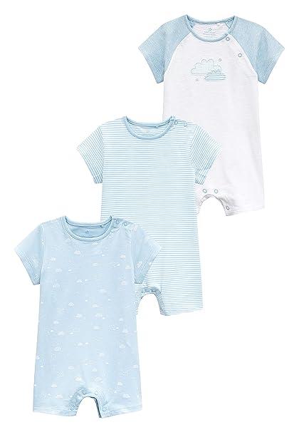 next Bebé-Niños Pack De Tres Peleles con Estampado De Nubes (0 Meses - 2 Años) Azul 1.5-2 años: Amazon.es: Ropa y accesorios