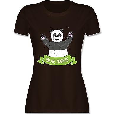 Shirtracer Statement Shirts - Süßer Panda You Are Pandastic - S - Braun -  L191 -