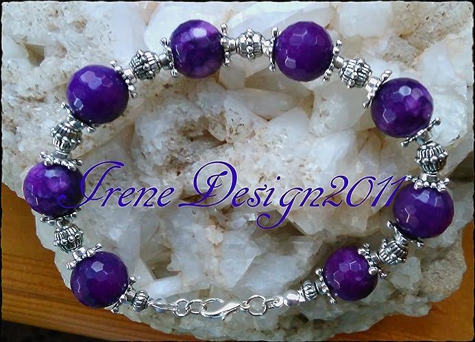 Facetted Purple Jade Bracelet