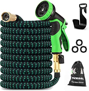 Expandable Garden Hose 50 Feet with 10 Functions Nozzle, Lightweight No-Kink Water Hose with 3/4