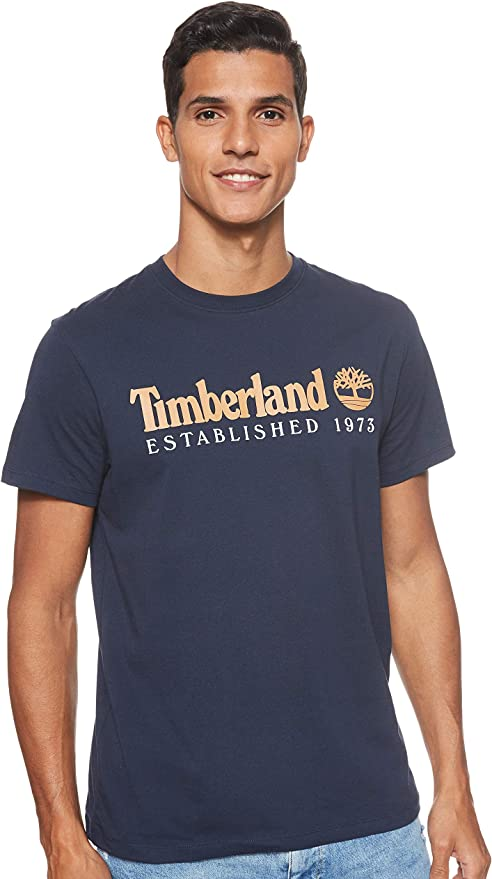 Timberland Mens Short Sleeve Core Established Tee Dark Sapphire X-Large: Amazon.es: Ropa y accesorios