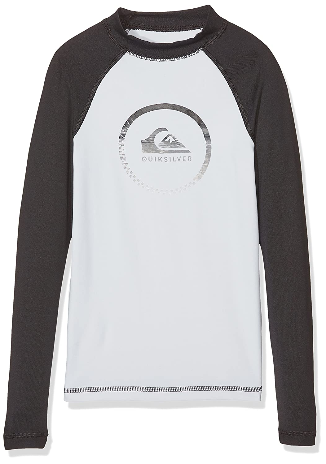 Quiksilver activess Maglietta Ragazzo, Ragazzo, T-shirt, Activess, Snow White/Noir, FR : 12 ans (Taille Fabricant : M) QUILX|#Quiksilver UQBWR03040