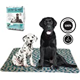 rocket & rex Washable Pee Pads for Dogs, 2-Pack, Large (30x36), for Housebreaking, Incontinence, Training, Travel. Reusable, Waterproof and Fast Absorbing. Great for Bed Wetting, Mattress Protection