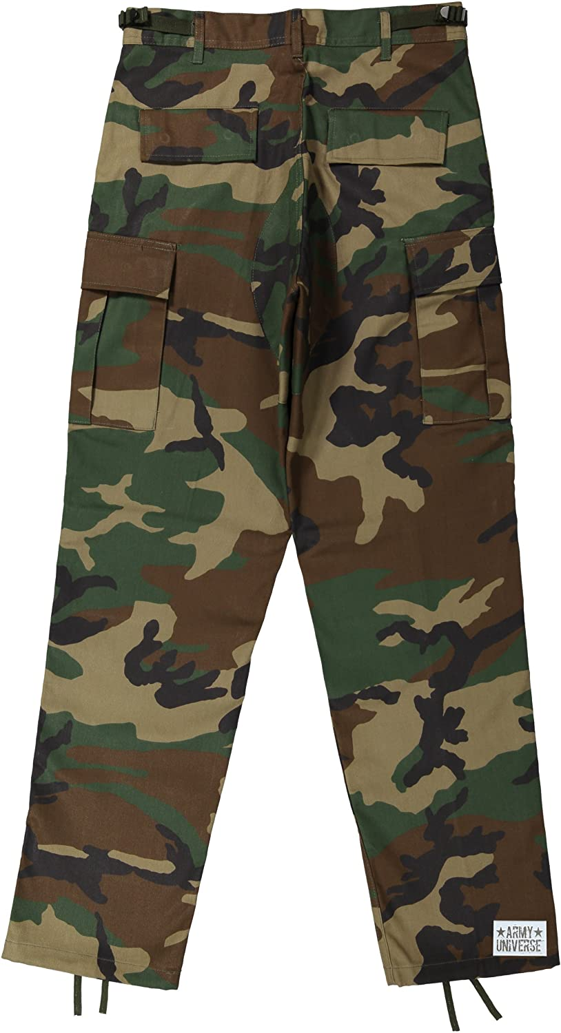 Amazon.com  Mens Woodland Camouflage Poly Cotton Military BDU Army Fatigues  Cargo Pants with Pin  Clothing a662c46be3