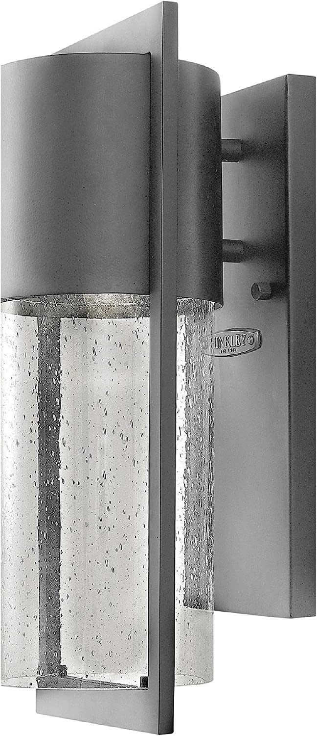 Hinkley 1320HE-LED Transitional One Light Wall Mount from Shelter Collection in Bronze/Dark Finish, Small, Hematite LED