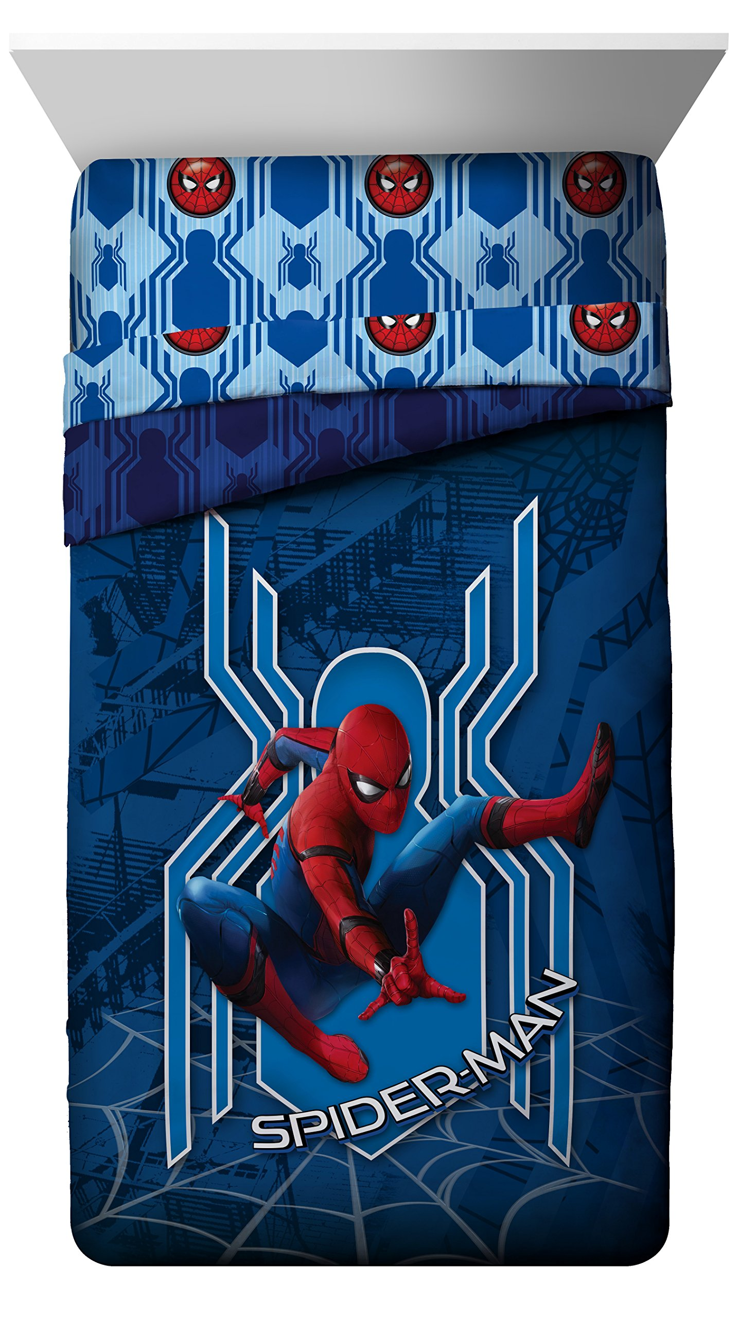 Jay Franco Spiderman Homecoming Reversible Twin/Full Comforter, T/F