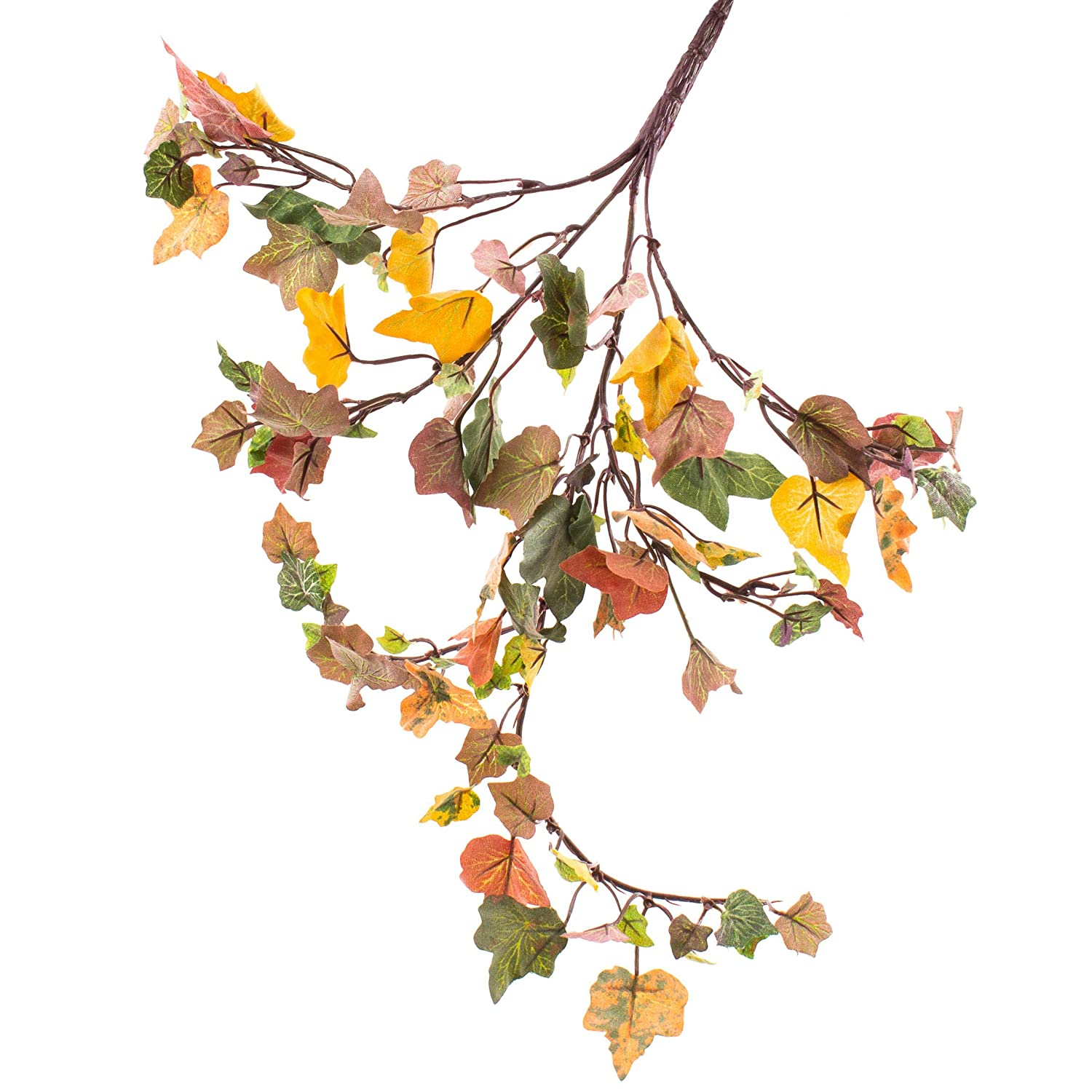 artplants - Plastic Ivy Bush with 104 Leaves in autumn green, 14