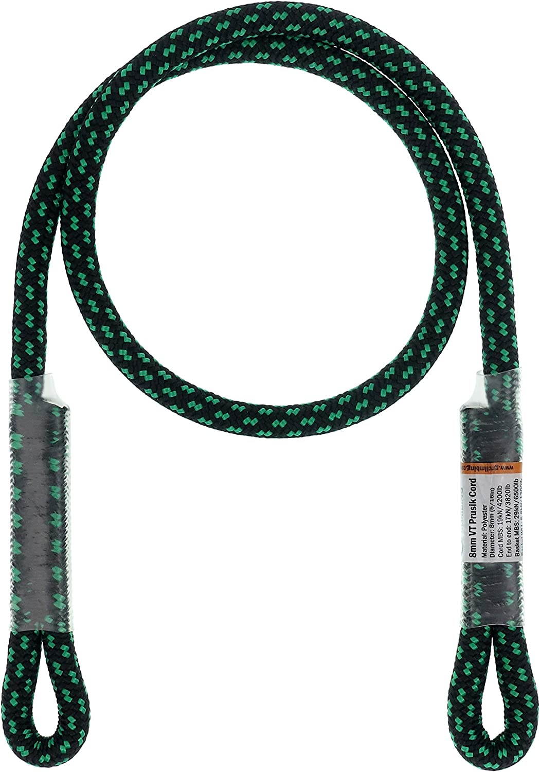 "GM CLIMBING 8mm (5/16"") Prusik Swen Eye-to-Eye Pre-Sewn 30 inch : Sports & Outdoors"