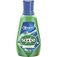 Crest Scope Classic Mouthwash for Bad Breath, Mint, 1 Litre