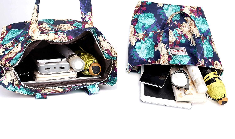 Women Fashion Tote Bags Sholder Bag Big Capacity Handbag Top Handle Satchel Waterproof Nylon Oxford Lady Bag Travel Luggage Outside Pocket