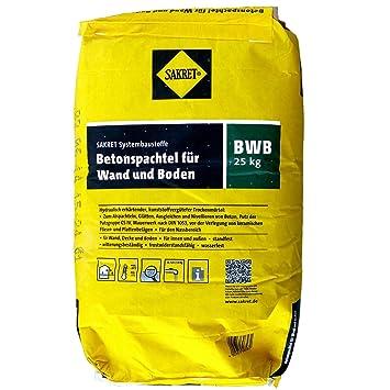 Betonspachtel Aussen 25 kg sack sakret betonspachtel bwb für wand und boden spachtelmasse