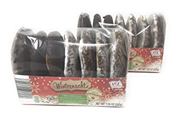 Winternacht Lebkuchen German Iced And Chocolate Covered Gingerbread Cookies On Wafers 200 Grams
