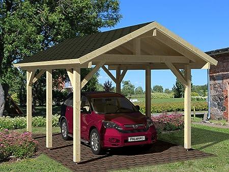 Marquesina Halesia H17 natural - 120 x 120 mm Espesor de los postes, base de la superficie: 11,70 M², sillín de techo: Amazon.es: Bricolaje y herramientas