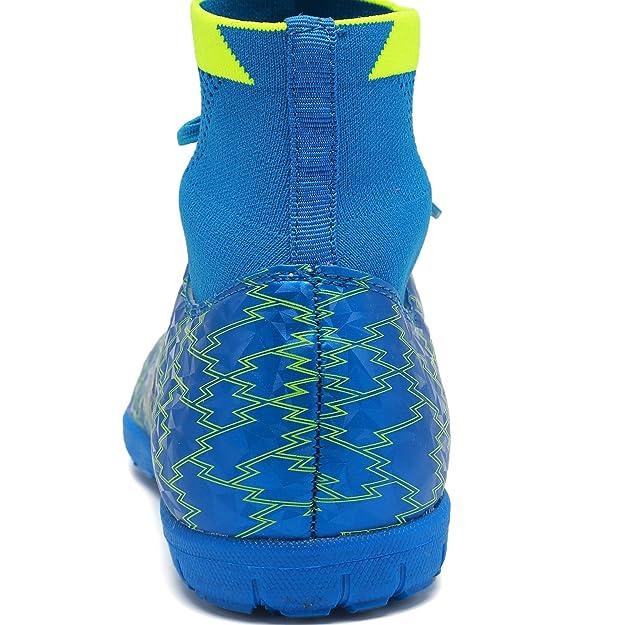 Amazon.com | ANLUKE Mens Hightop Training Soccer Shoes TF Football Boots | Soccer