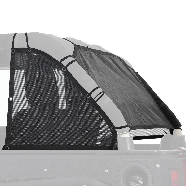 Smittybilt 95601 Cloak Extended Mesh Top Cloak Sides And Rear Black Mesh Cloak Extended Mesh Top