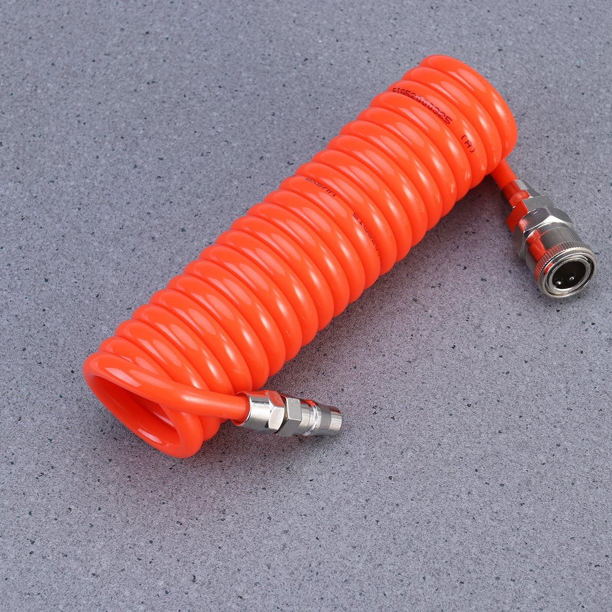 UKCOCO Tubo retr/áctil flexible del resorte del compresor de aire de la manguera del retroceso de la PU para la herramienta del aire del compresor 8m mx5m m