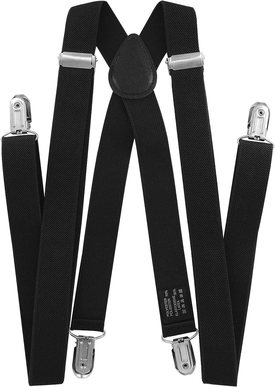 axy bretelle per pantaloni da uomo con papillon/ /4/Clip a forma di X con tenuta forte