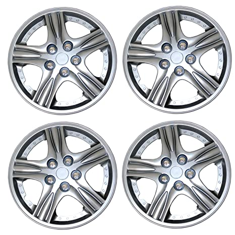 Amazon.com: Tuningpros WC3-15-510-S - Pack of 4 Hubcaps - 15-Inches Style 510 Snap-On (Pop-On) Type Metallic Silver Wheel Covers Hub-caps: Automotive
