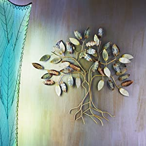 Eangee Home Design Leafed Tree Wall Decor Cool Color (m6001)