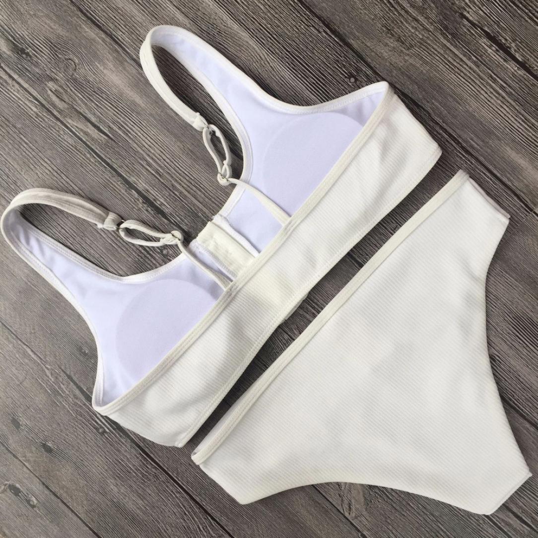 4659501705f93 Amazon.com: Jiechu Women Push-Up Padded Bra Beach Bikini Set Swimsuit Sexy  Swimwear: Clothing