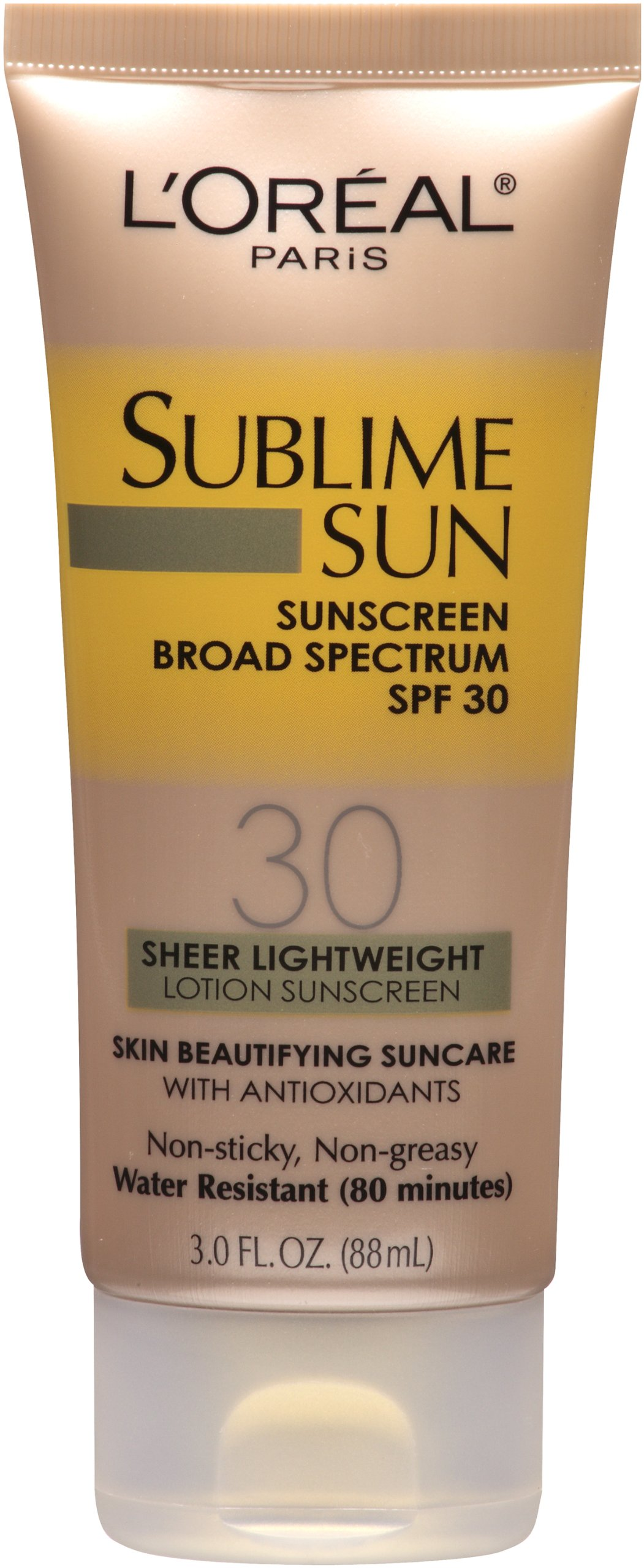 L'Oreal Paris Sublime Sun Advanced Sunscreen SPF 30 Lotion, 3.0 Ounce