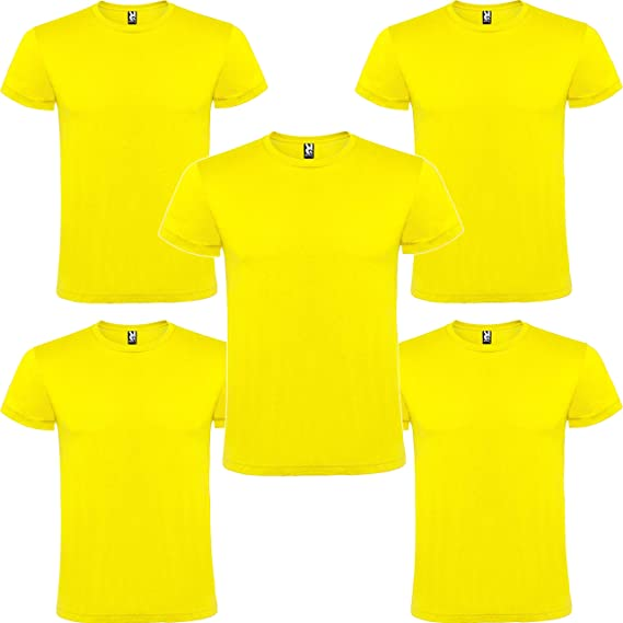 Camiseta Hombre Manga Corta | Pack 5 | Algodón | Cuello Redondo 11 Colores: Amazon.es: Ropa y accesorios