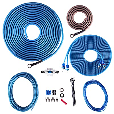 Skar Audio 8 Gauge CCA Complete Amplifier Installation Wiring Kit, SKAR8MANL-CCA