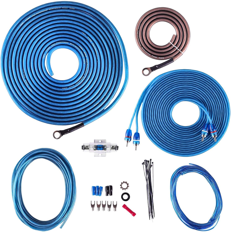 B07TCFCMM6 Skar Audio 8 Gauge CCA Complete Amplifier Installation Wiring Kit, SKAR8MANL-CCA 81qiSkxq58L