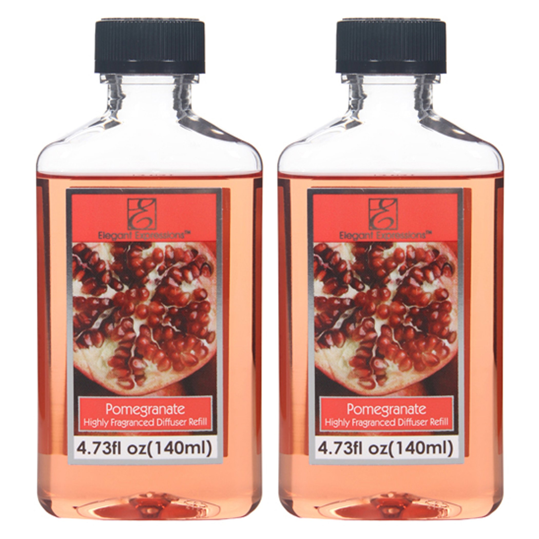 Aromatherapy Hosley Fruits & Flowers Pomegranate Scent Reed Diffuser Refill Oil- Set of 2/140 ml Each - Made in USA. Bulk Buy Ideal for Spa, Meditation, Bathroom Settings O4