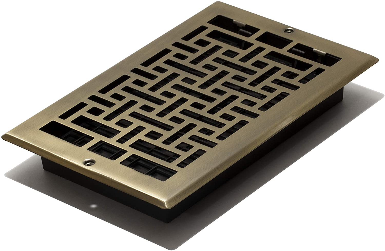 Decor Grates AJL610W-A Oriental Wall Register, 6-Inch by 10-Inch, Antique Brass