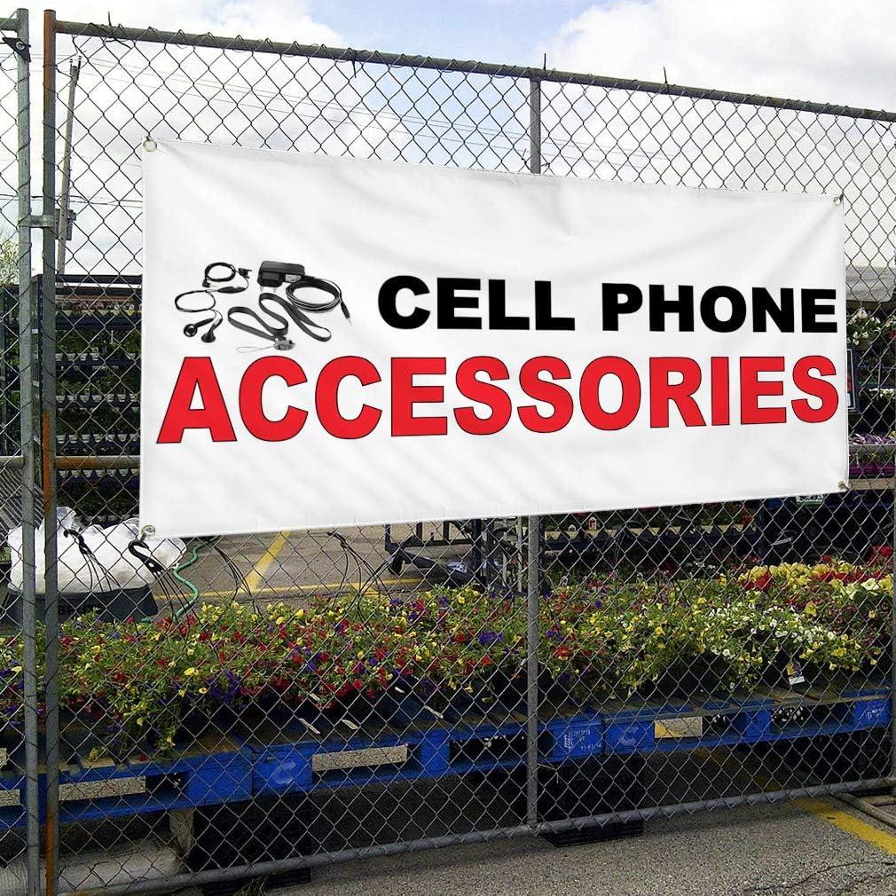 Vinyl Banner Multiple Sizes Flea Market Outdoor Advertising Printing F Business Outdoor Weatherproof Industrial Yard Signs Black 8 Grommets 48x96Inches