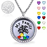 Amazon Price History for:XingYue Jewelry Family Tree Floating Charm Locket Love You to the Moon and Back Birthstones Necklace Mothers Day Gifts