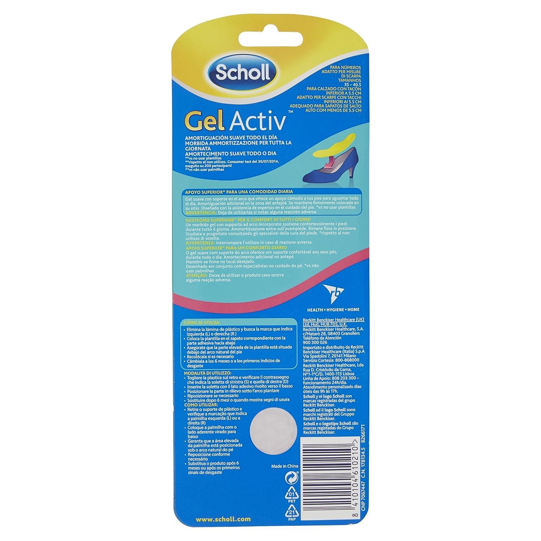 Scholl Gel Active Scarpe Tacchi Alti - Solette Comfort Donna Misura 35 - 40,5
