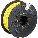 Amazon Basics PLA 3D Printer Filament, 1.75mm, Yellow, 1 kg Spool