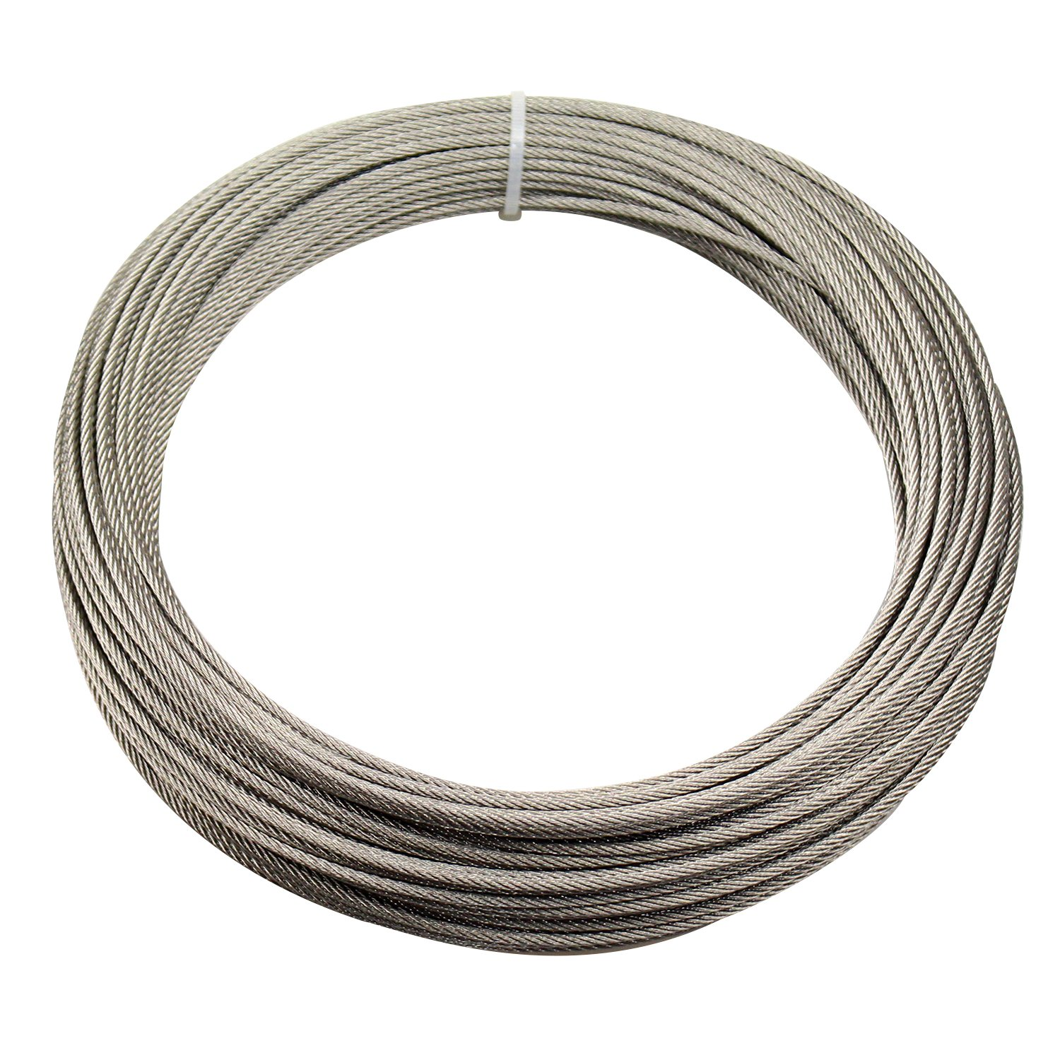 DYWISHKEY Stainless Steel Aircraft Cable 1/8'', 7x7, 164ft