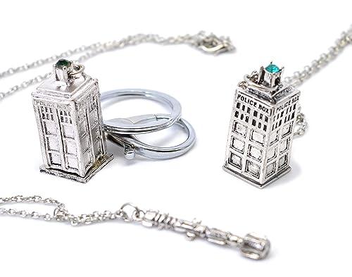 El Doctor DR WHO Pack de regalo. Collar, Tardis Tardis ...