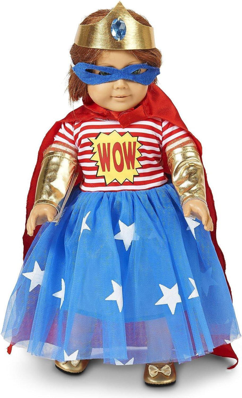 "Pop Art Comic Superhero Girl 18/"" Doll Costume"