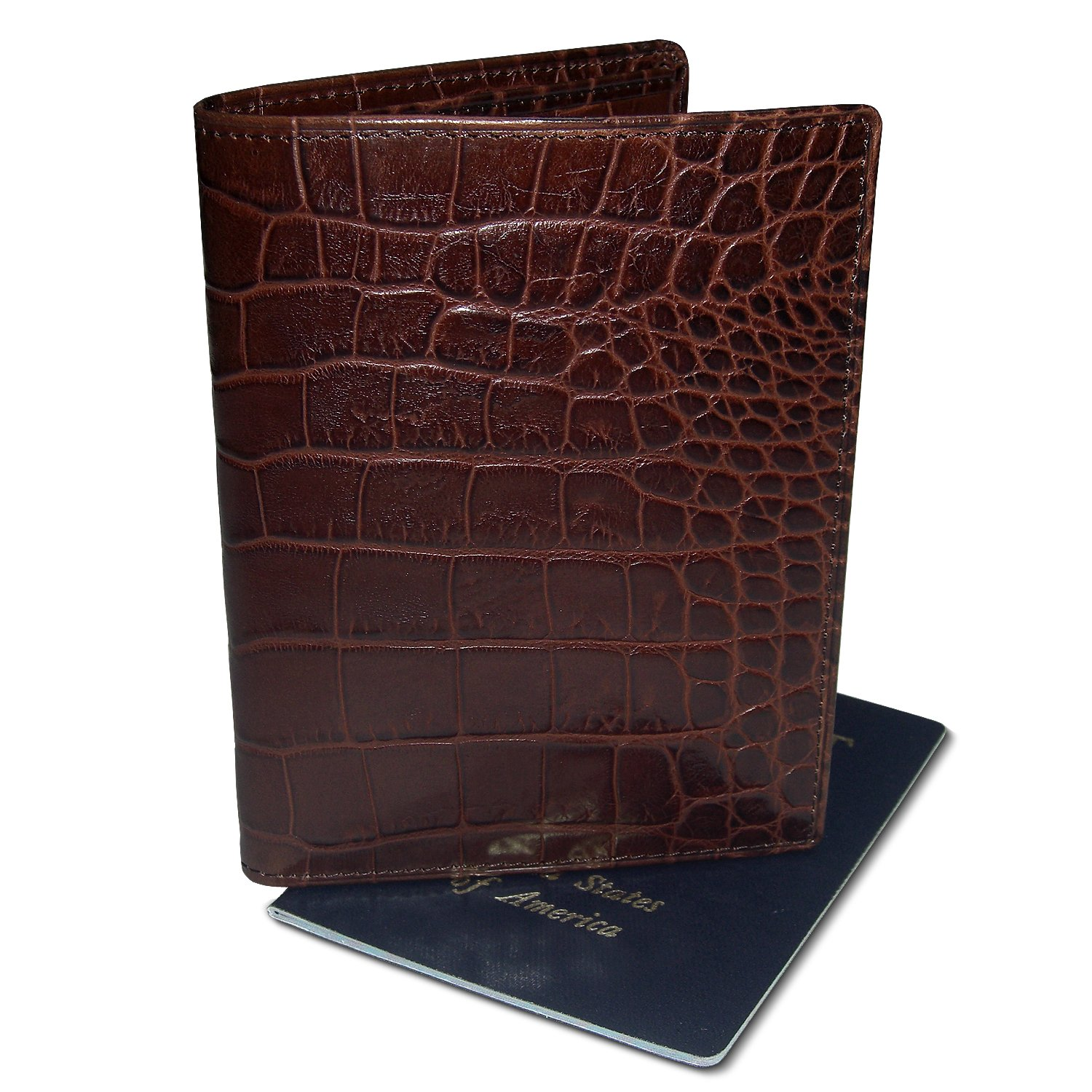 DataSafe Deluxe Italian Leather Passport Wallet with RFID Sheilding Security (Black) by Kena Kai (Image #4)