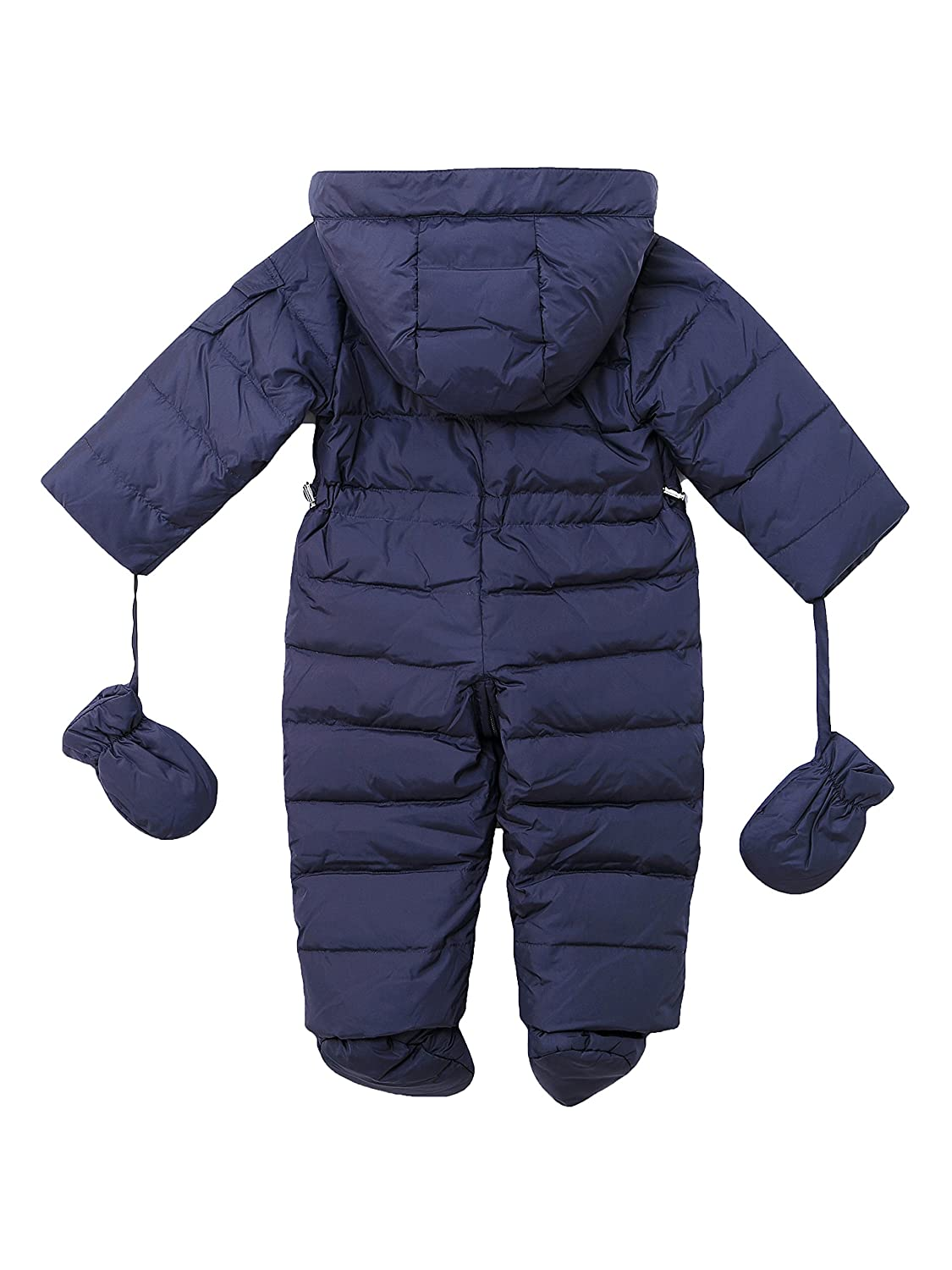 6105e2c26 Oceankids Baby Boys Girls Navy Blue Pram One-Piece Snowsuit Attached ...