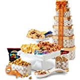 Broadway Basketeers Towering Heights Assorted Chocolate, Cookies and Sweets Gift Tower, Perfect Gift Father's Day, Friends, C