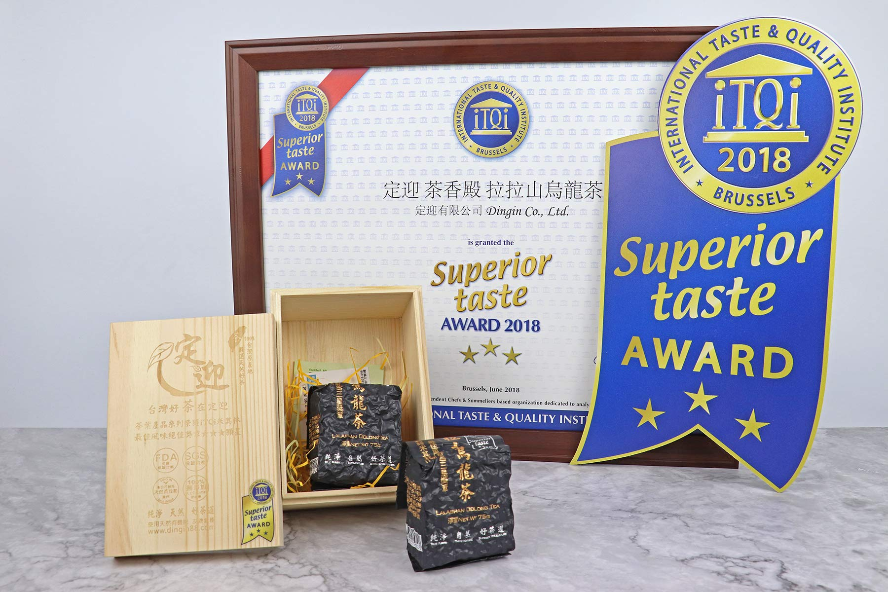 DING IN Lalashan Oolong Tea Pine Box 75g2/box by Ding In ltd. (Image #7)