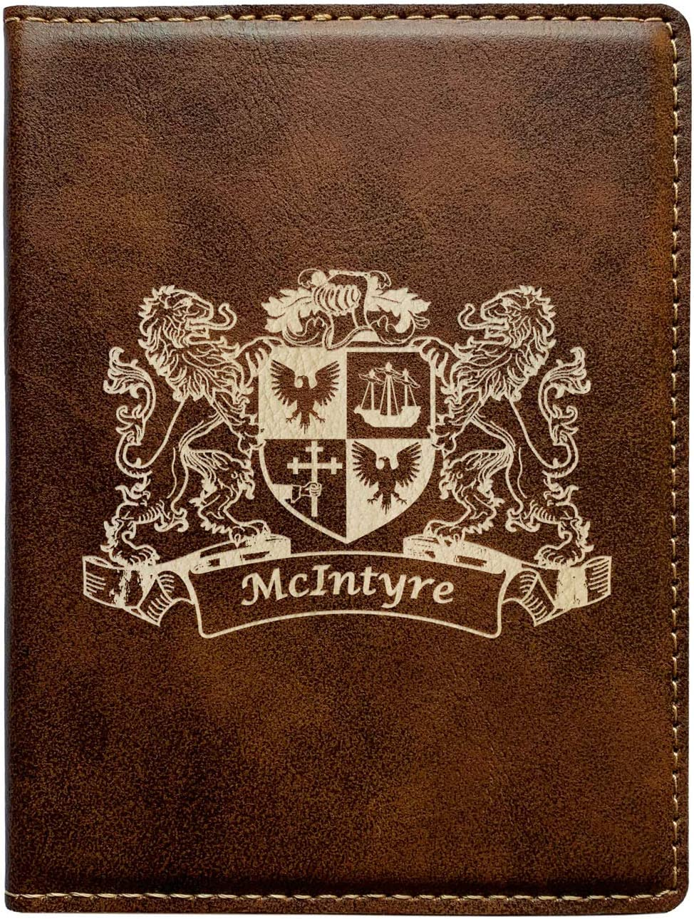 McIntyre Irish Coat of Arms Leather Passport Wallet