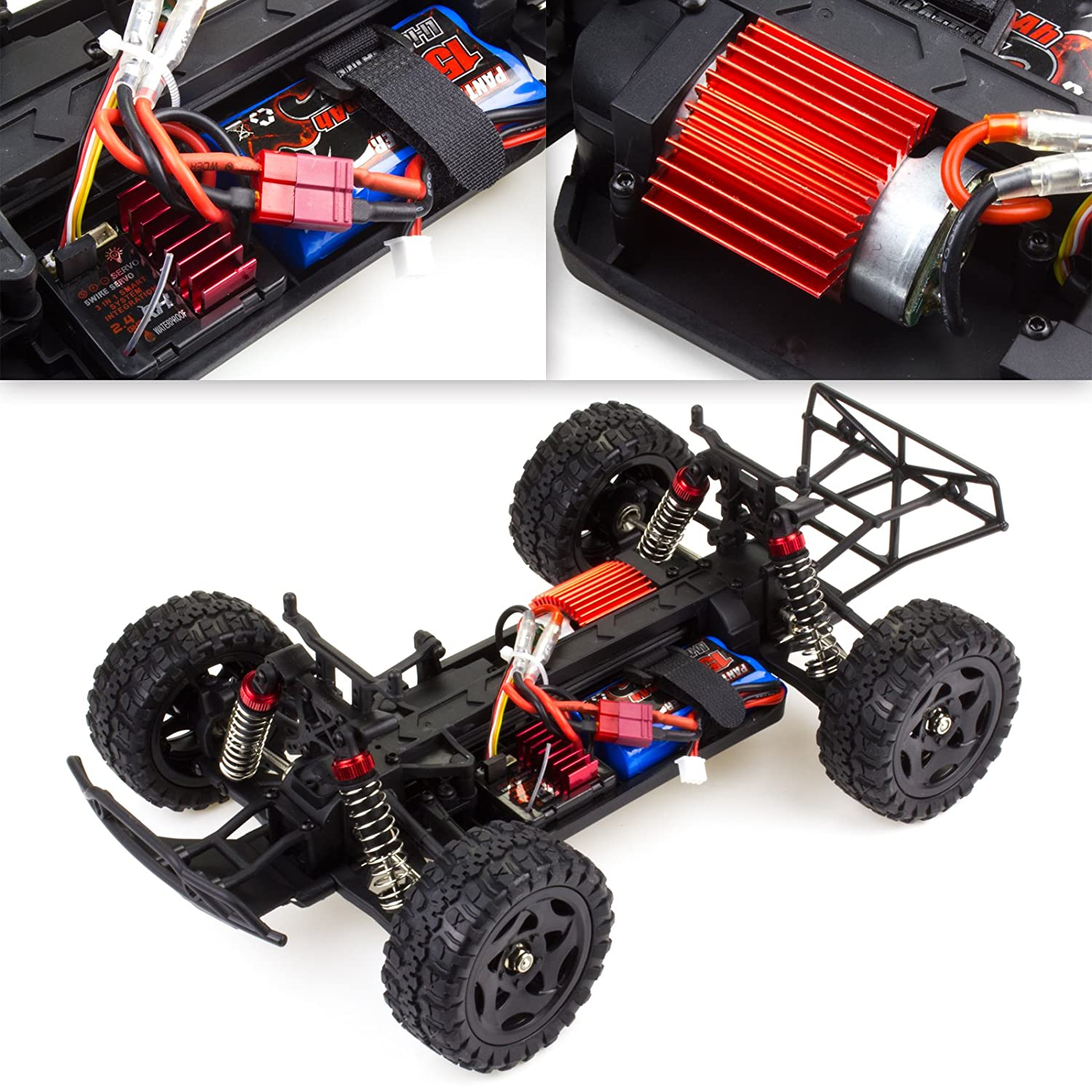 Cheerwing Remo Rocket Rc Truck 116 24ghz 4wd Remote Rims Plug Wiring Diagram Control Car High Speed Off Road Short Course Orange Toys Games