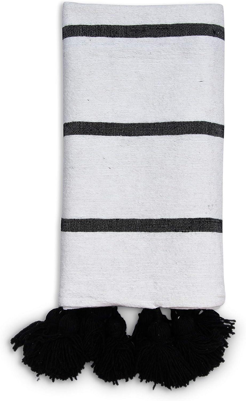 Poufs&Pillows - Manta de lana y algodón (0,90 x 1,85 m) – Colcha ...