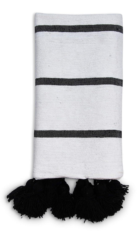 Poufs&Pillows - Manta de Lana y algodón (0,90 x 1,85 m ...