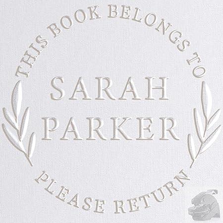 Custom Embosser Library Embosser Personal Library Embosser Reader Emboss Embossed Ex Libris Personalized Gift Book Embosser Books