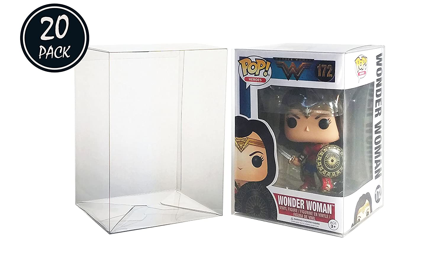Katana Collectibles Protector Case Compatible with Funko POP 4 Inch Vinyl Figure 20 Count